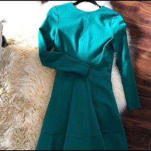 Eva Longoria collection forest green dress
